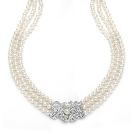 Preload https://item3.tradesy.com/images/mariell-pearl-3-row-cubic-zirconia-vintage-3826n-necklace-3492622-0-0.jpg?width=440&height=440