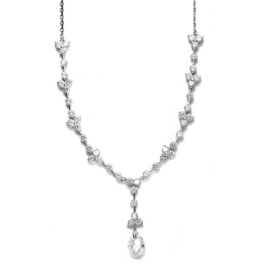 Preload https://img-static.tradesy.com/item/3492847/mariell-silver-cz-with-faceted-crystal-drop-340n-necklace-0-0-540-540.jpg