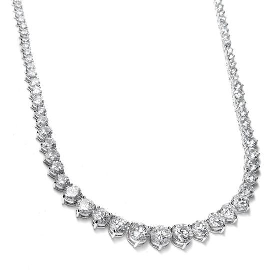 Mariell Graduated Cubic Zirconia Tennis Necklace 531n