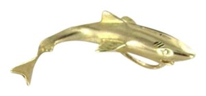 Vintage 14KT YELLOW GOLD PENDANT CHARM SHARK FATHERS DAY GIFT FISH OCEAN 3.6DWT SEA DEEP