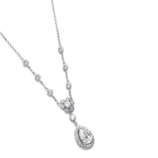 Preload https://img-static.tradesy.com/item/3493000/mariell-silver-cubic-zirconia-pendant-with-pear-shaped-drop-689n-s-necklace-0-0-540-540.jpg
