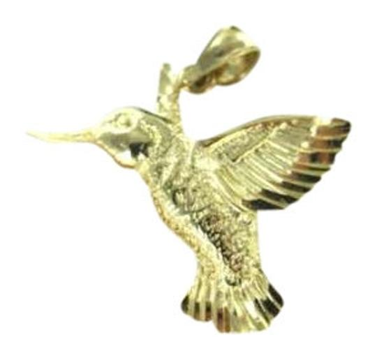 Vintage 14KT YELLOW GOLD PENDANT CHARM HUMMING BIRD 1.6DWT DZ FANTASY NATURE JEWELRY