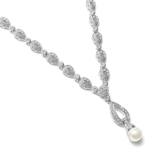 Preload https://img-static.tradesy.com/item/3493162/mariell-silver-vintage-cz-pave-469n-necklace-0-0-540-540.jpg
