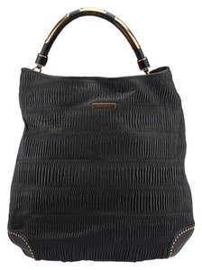 Burberry Prorsum Top Handle Leather Tote in Black