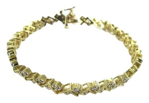 Vintage 14KT YELLOW GOLD 50 ROUND CUT DIAMOND 2 CARATS TENNIS BRACELET 14.2DWT 22 GRAMS