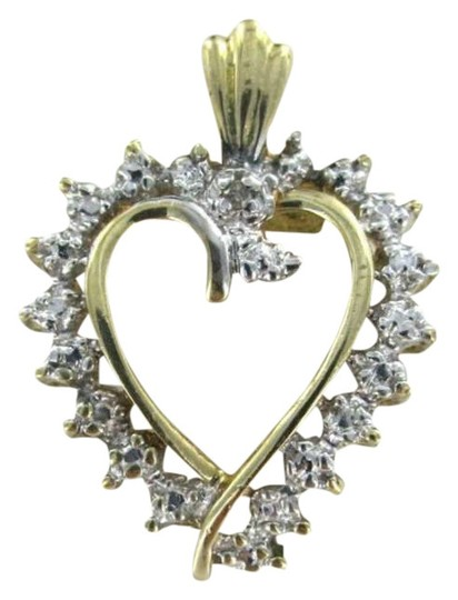Preload https://img-static.tradesy.com/item/349337/10kt-yellow-gold-pendant-heart-love-9dwt-afjc-1-diamond-sweetheart-valentine-necklace-0-0-540-540.jpg