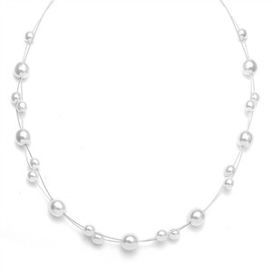 Mariell Floating Pearl Flower Girl Necklace 2116n