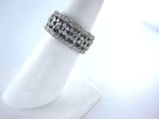 Vintage 18KT WHITE GOLD 193 DIAMOND RING SZ 6.5 WEDDING BAND 4.6DWT FINE JEWELRY DESIGN