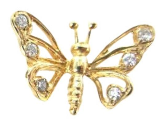 Preload https://img-static.tradesy.com/item/349362/yellow-gold-10-kt-pendant-butterfly-6-diamond-08dwt-fine-jewel-charm-necklace-0-0-540-540.jpg