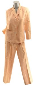 Michael Kors MICHAEL KORS Pale Orange Cotton/Silk Dupioni Pantsuit - BEAUTIFUL - US6 - Italy