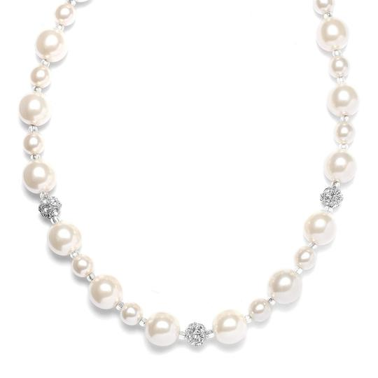 Mariell Ivory Pearl with Rhinestone Fireballs 878n Necklace
