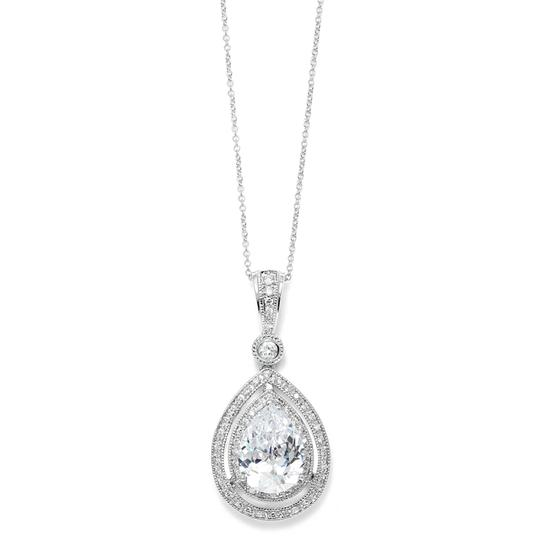 Preload https://img-static.tradesy.com/item/3493804/mariell-silver-bold-vintage-cubic-zirconia-pendant-3518n-necklace-0-0-540-540.jpg
