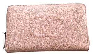 Chanel Caviar Wallet Pink Clutch