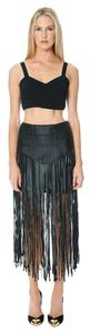 Evil Twin Leather Faux Leather Mini Skirt Black