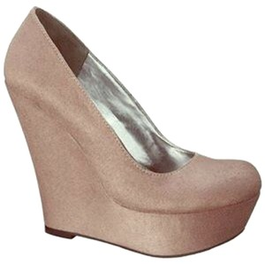 Mossimo Supply Co. Platform Wedge Suede Gray Platforms