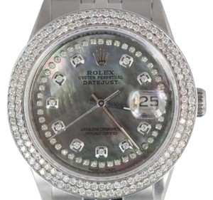 Rolex MENS ROLEX DATEJUST S/S DIAMOND WATCH WITH ROLEX BOX AND APPRAISAL