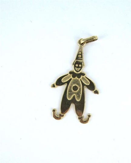Vintage 14KT YELLOW GOLD PENDANT CLOWN 1.0DWT CHARM CIRCUS MIME PARTY FUN JUGGLER JEWEL