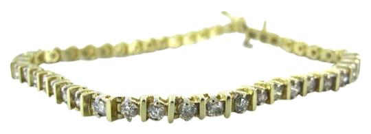 Vintage DIAMOND TENNIS 14K YELLOW GOLD BRACELET 47 DIAMONDS 2.50 CARATS FINE JEWELRY