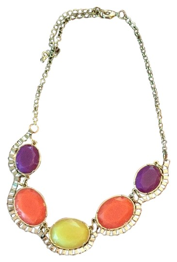Preload https://item3.tradesy.com/images/francesca-s-purple-orange-and-yellow-statement-necklace-3494377-0-0.jpg?width=440&height=440