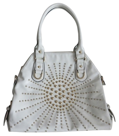 Preload https://item1.tradesy.com/images/new-cross-body-with-gold-tone-studs-and-rhinestones-white-faux-patent-leather-shoulder-bag-3494620-0-0.jpg?width=440&height=440
