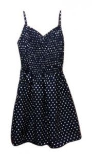 Target short dress navy with white polka dots on Tradesy
