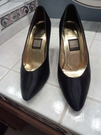 Nina Shoes Black Satin Formal