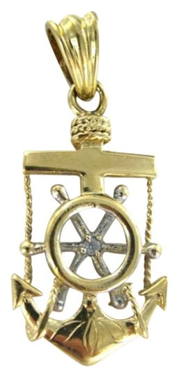 Preload https://img-static.tradesy.com/item/349485/yellow-gold-14kt-pendant-mariner-anchor-cross-sailor-sea-tide-captain-ship-wheel-0-0-540-540.jpg