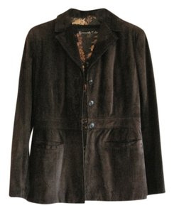 Kenneth Cole Suede Brown Leather Jacket