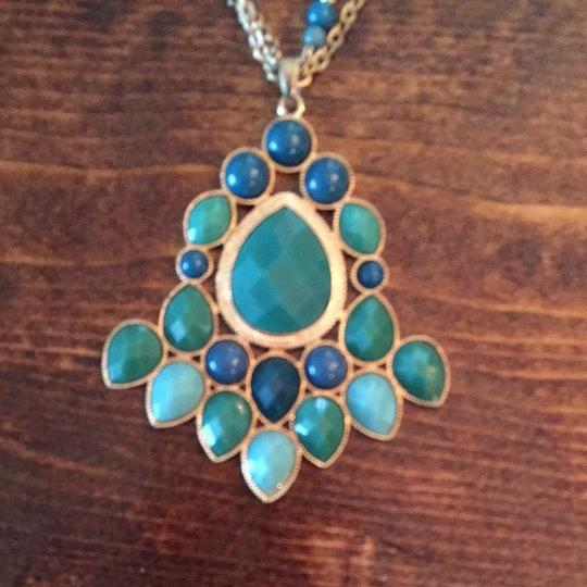 Other Long Turquoise Statement Necklace
