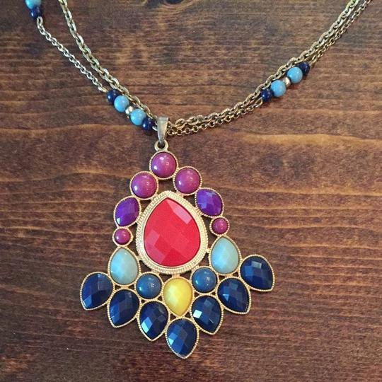 Other Long Multi Colored Statement Necklace