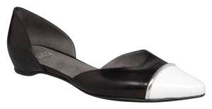 Stuart Weitzman New Classic Leather Black & White Flats