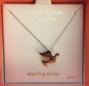 Devin Rose Dove Necklace In Sterling Silver