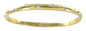 Tiffany & Co. TIFFANY & CO ETOILE 18KT YELLOW GOLD PLATINUM 10 DIAMOND BRACELET BANGLE JEWEL
