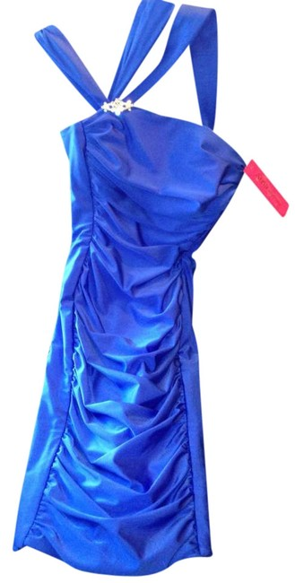 Item - Royal Blue At-6036 Above Knee Cocktail Dress Size Petite 4 (S)