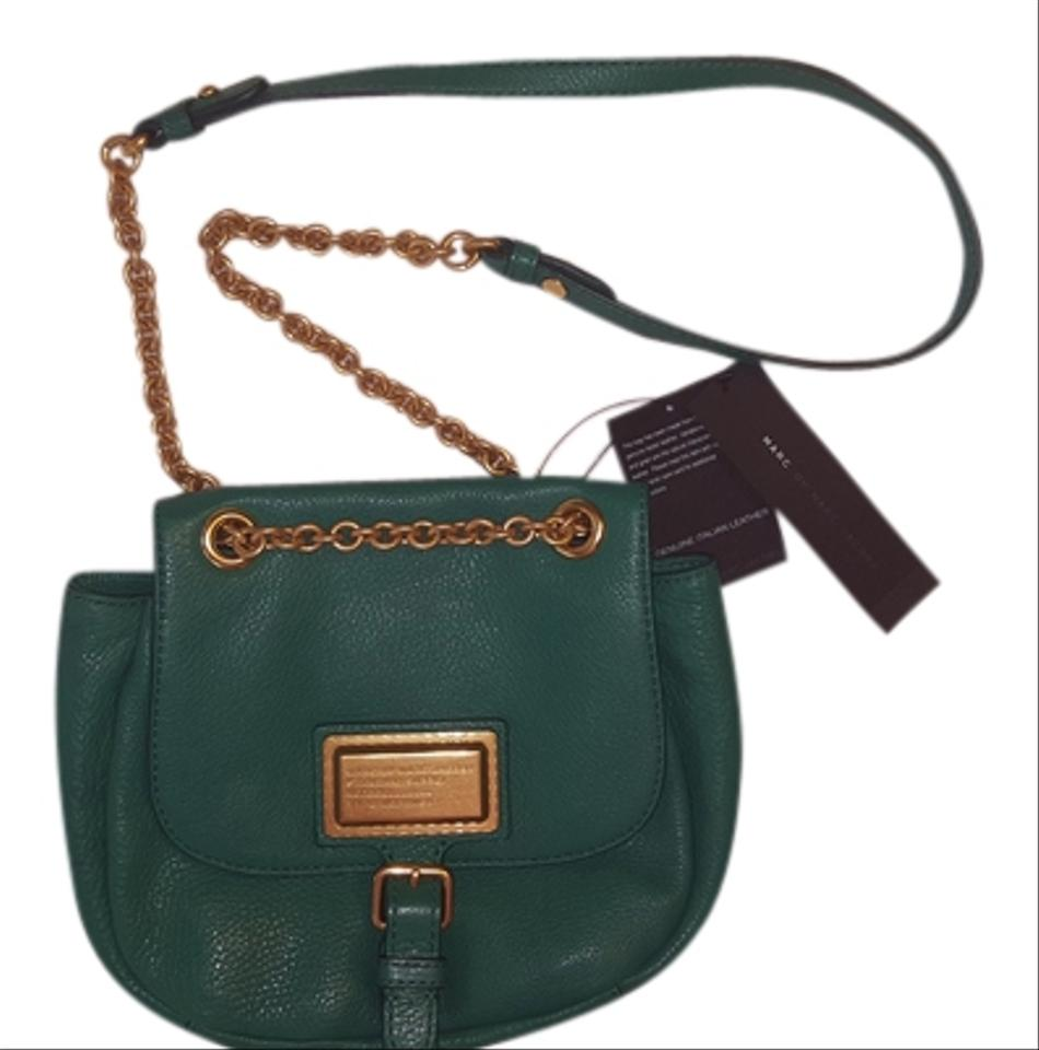 56c6f88d83 Marc by Marc Jacobs M0004787 Soccer Pitch Green Leather Cross Body ...