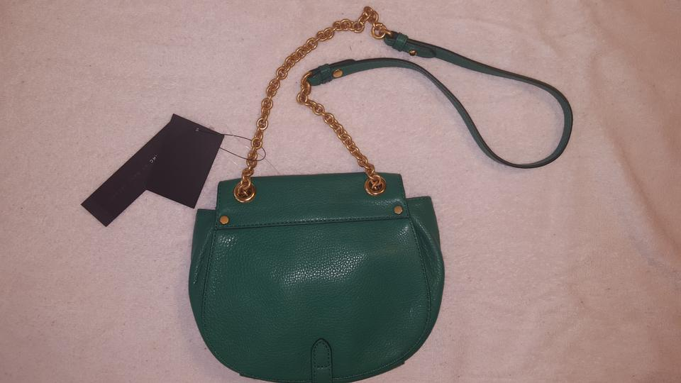 53935965f1 Marc by Marc Jacobs M0004787 Soccer Pitch Green Leather Cross Body Bag