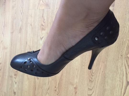 Max Studio Studded Perforated Black with studs Pumps