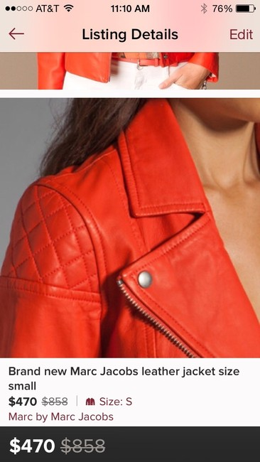 Marc by Marc Jacobs Flamingo Red Jacket