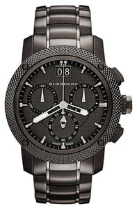 Burberry Burberry Men's Swiss Chronograph Gray Ion Plated Stainless Steel Bracelet 46mm