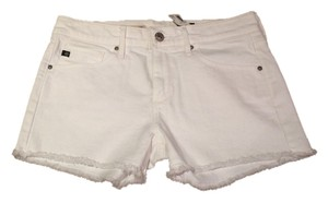 AG Adriano Goldschmied Cutoff Jean Cut Off Shorts White