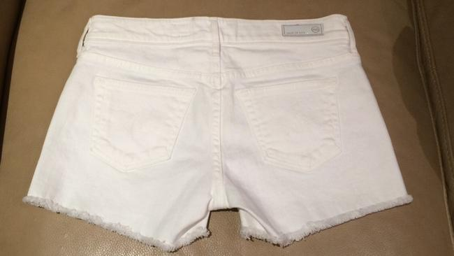AG Adriano Goldschmied Jean Summer Denim Cut Off Shorts White