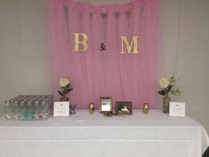 Pink Tulle 'curtain' Reception Decoration