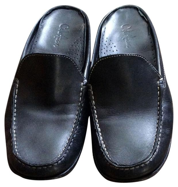Item - Black Mules/Slides Size US 7 Regular (M, B)