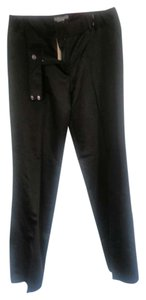 Ann Taylor Tall Plus-size Silk Straight Pants Black