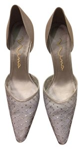 Nina Wedding Shoe Mother Of Bride Silver Pumps