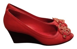 Tory Burch Lobster Red Wedges