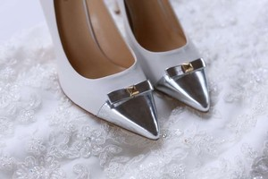 Kate Spade White Paloma Heel Pumps Size US 8.5