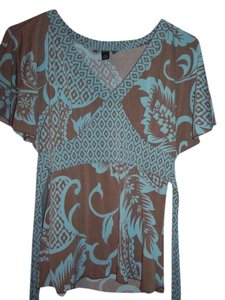 A. Byer Top brown/aqua