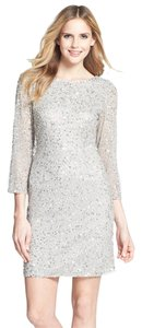 Pisarro Nights Mother Of Bride Sequin Cocktail Party Dress
