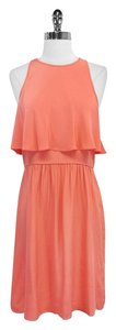 Tibi short dress Coral Silk Sleeveless on Tradesy